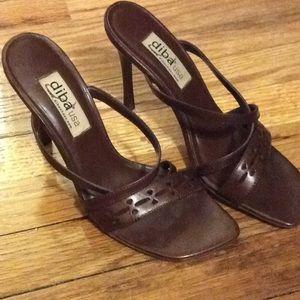 Chocolate brown sandal/ heel